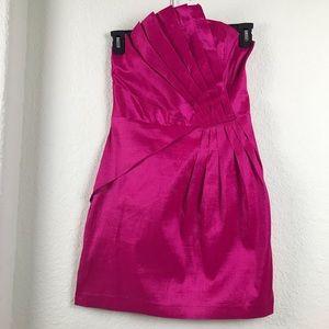 Romeo & Juliet Fuchsia Mini Asymmetrical Dress